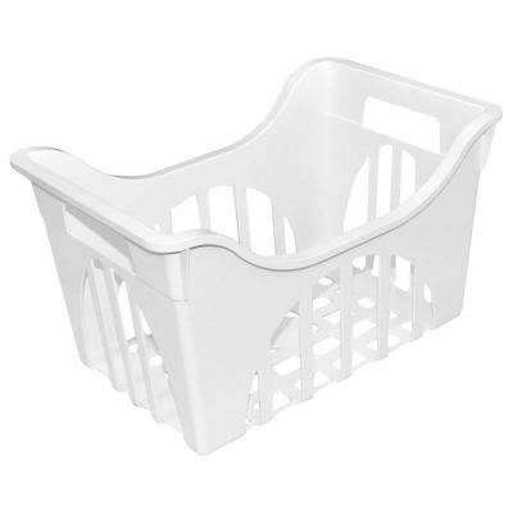 17.25 in. W x 11.13 in. D Freezer Basket in White