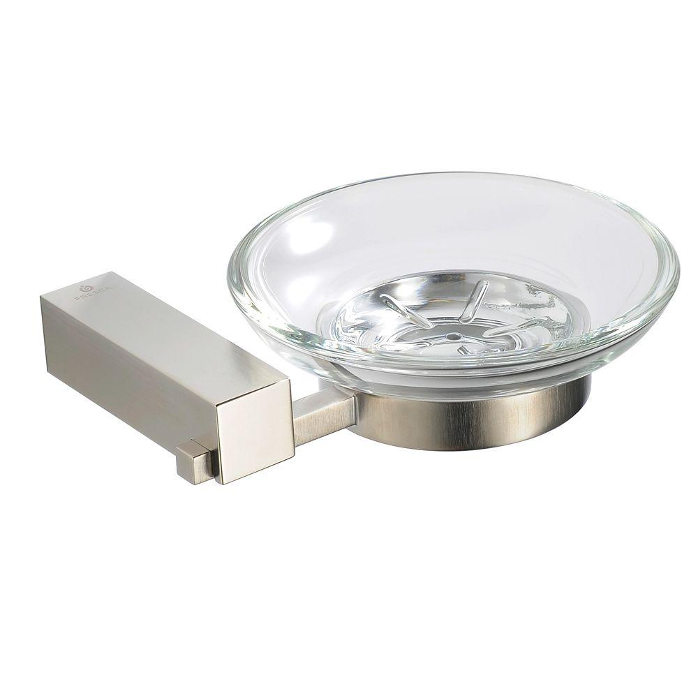Ottimo Wall-Mounted Soap Dish in Brushed Nickel