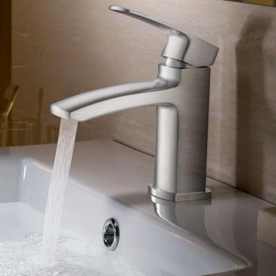 Fiora Single Hole Single-Handle Low-Arc Bathroom Faucet in Brushed Nickel