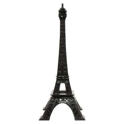 7.25 in. x 7.25 in. Black Resin Eiffel Tower Tabletop Decoration in Black