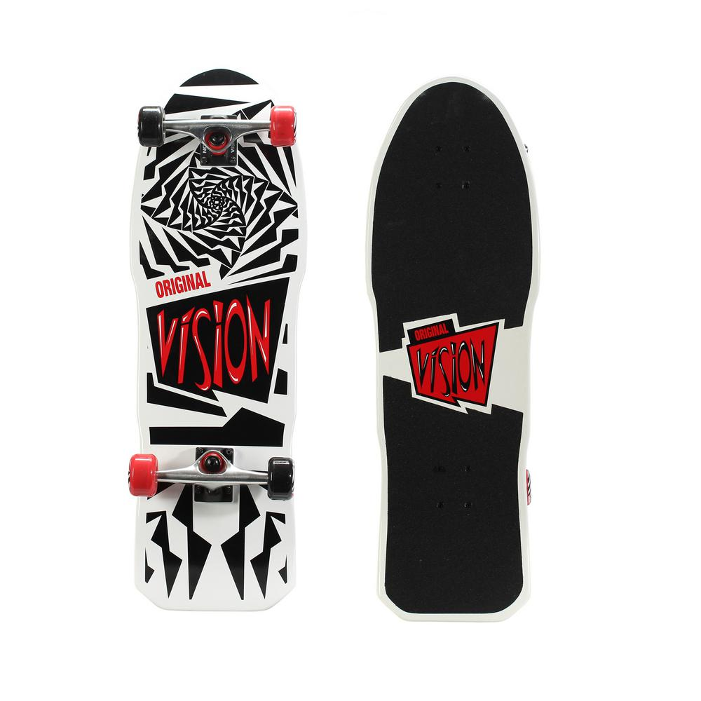 Vision Original Gold 31 in. Skateboard in Original White Graphic