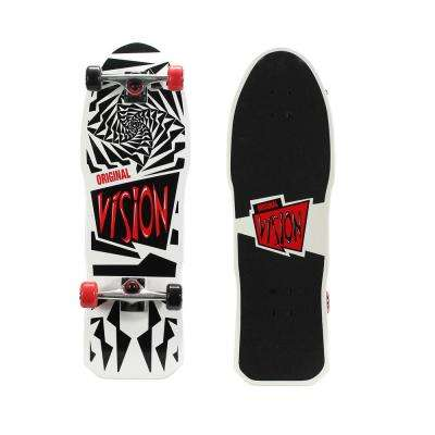 Original Gold 31 in. Skateboard in Original White Graphic
