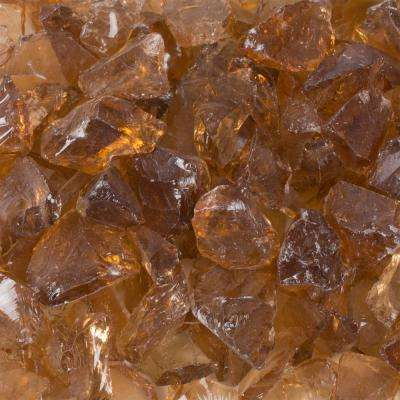 20 lb. Amber Tempered Glass Rocks