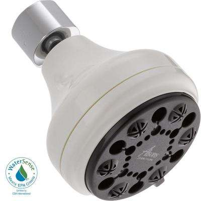 4-Setting Shower Head in White