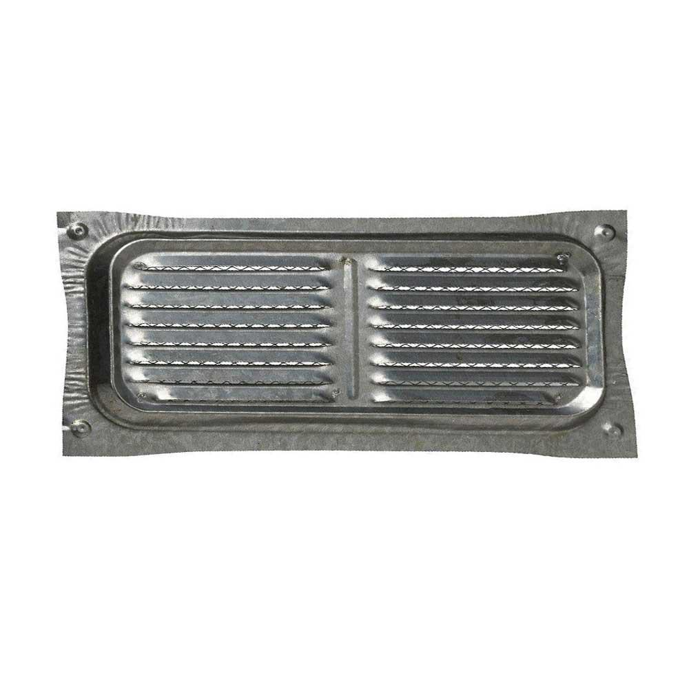 14 in. x 6 in. Bonderized Steel Foundation Vent