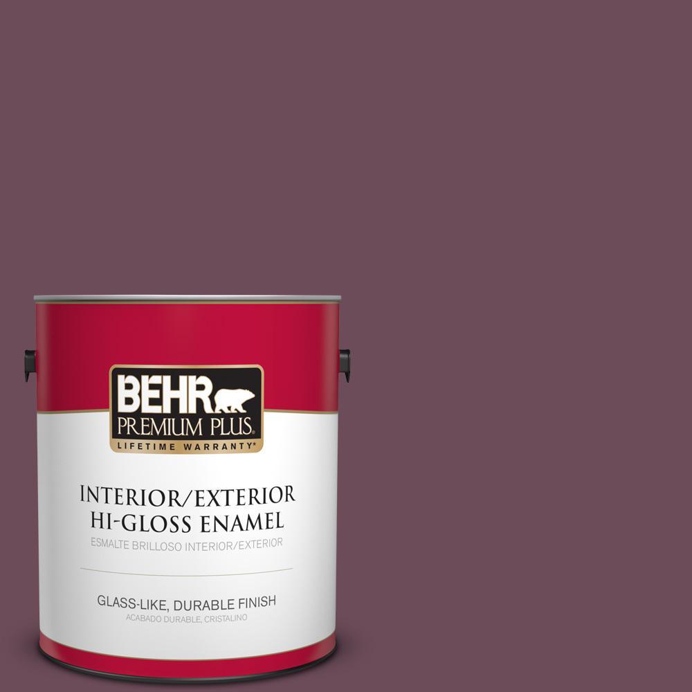 1 gal. #PPU1-20 Spiced Plum Hi-Gloss Enamel Interior/Exterior Paint