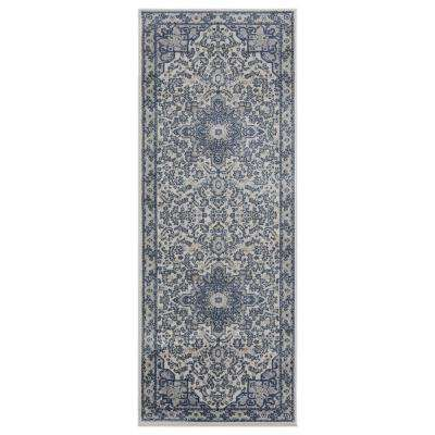 Clairmont Zawiya Cream 2 ft. 7 in. x 7 ft. 2 in. Runner Rug