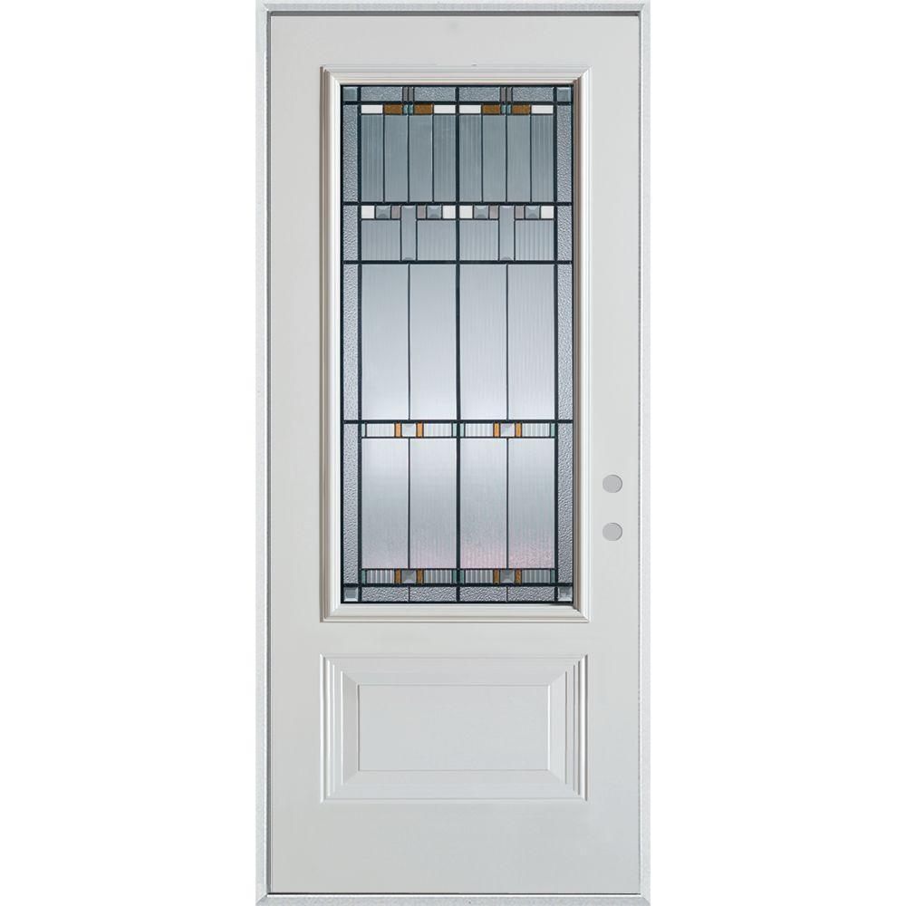 Stanley Doors 33.375 in. x 82.375 in. Architectural 3/4 Lite 1-  sc 1 st  Home Depot & Stanley Doors 33.375 in. x 82.375 in. Architectural 3/4 Lite 1-Panel ...