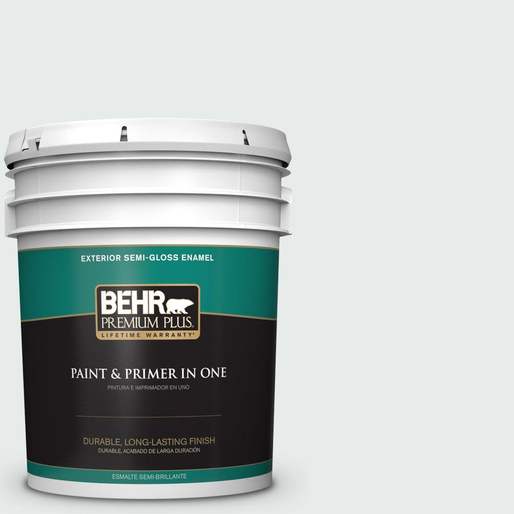 5-gal. #BL-W5 Dusting Powder Semi-Gloss Enamel Exterior Paint