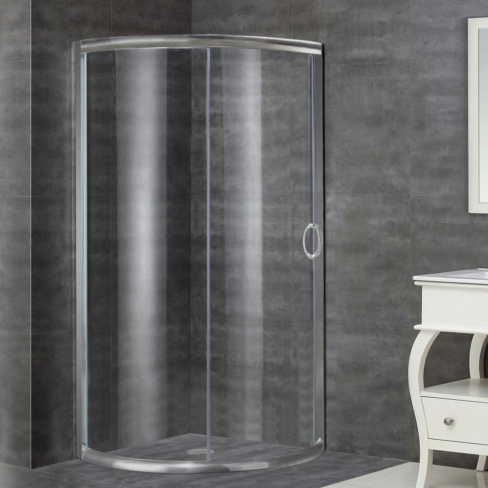 Round - Shower Doors - Showers - The Home Depot