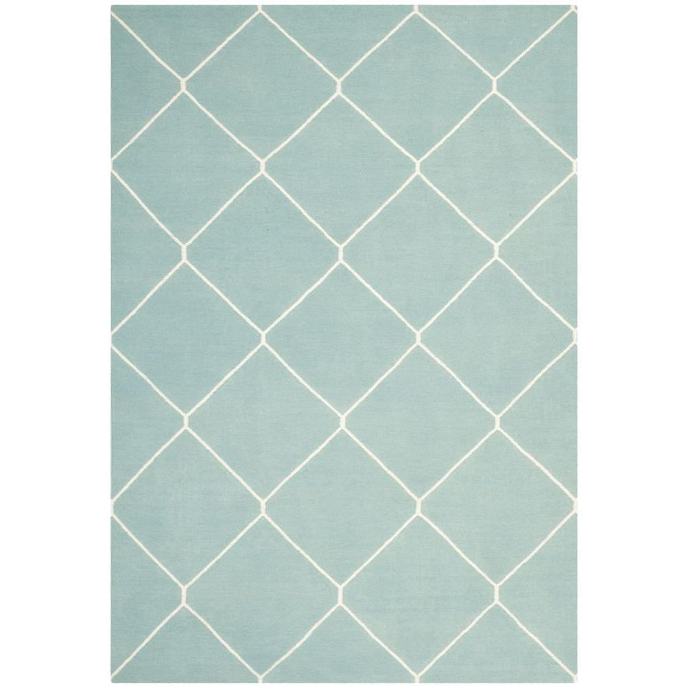Safavieh Dhurries Light Blue/Ivory 8 ft. x 10 ft. Area Rug