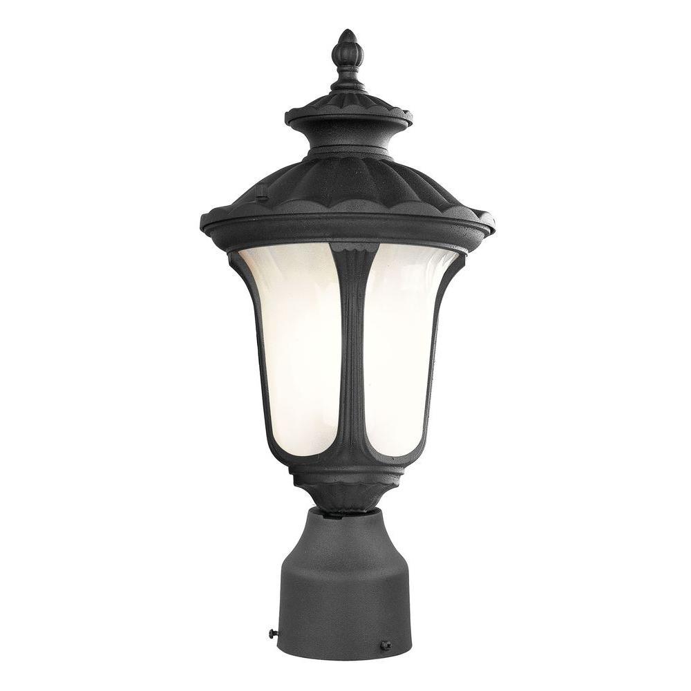 Livex Lighting Providence 7 in. Outdoor Black Post Head Lantern