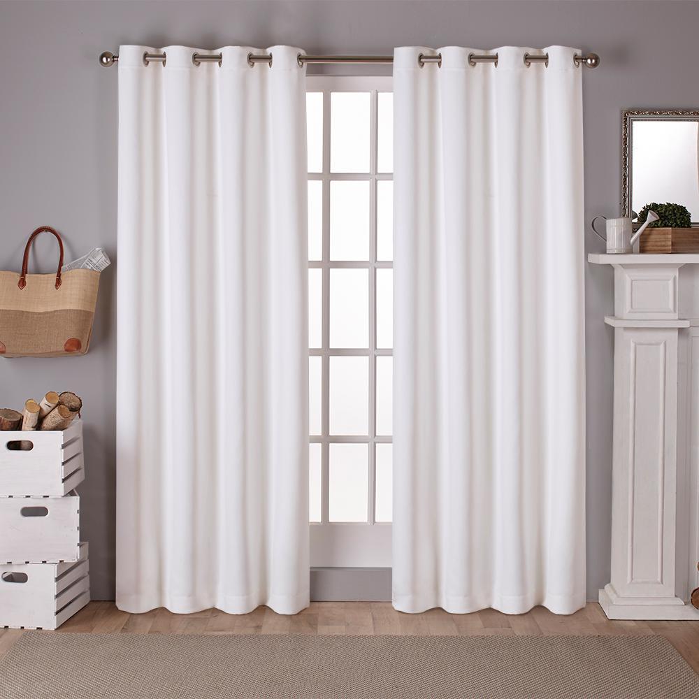 Sateen Vanilla Twill Weave Blackout Grommet Top Window Curtain