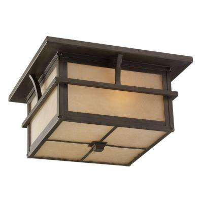 Medford Lakes 2-Light Outdoor Statuary Bronze Hanging/Ceiling Pendant Fixture