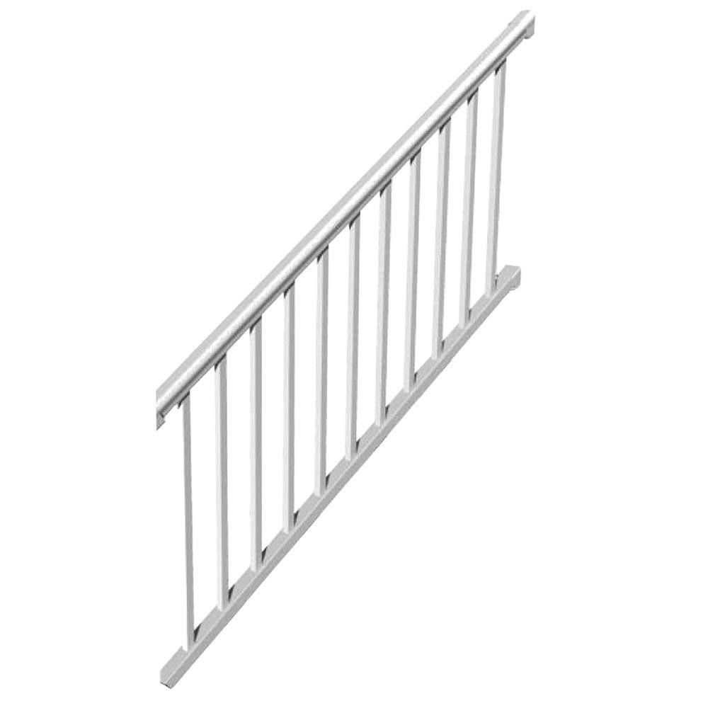 RDI 6 Ft. X 36 In. 32° To 38° Vinyl Titan Pro Stair Rail Kit With 1 1/4 In.  Square Balusters 73018200   The Home Depot