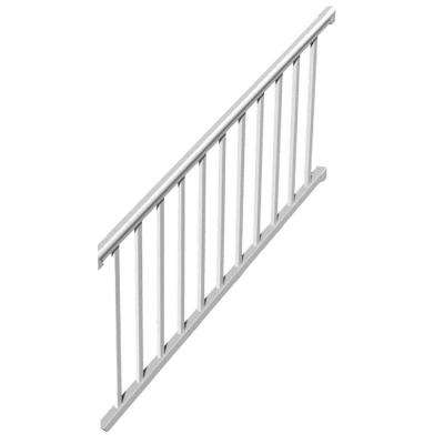6 ft. x 36 in. 32° to 38° Vinyl Titan Pro Stair Rail Kit with 1-1/4 in. Square Balusters