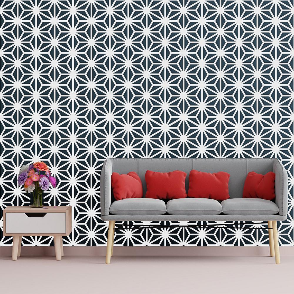 3/8 in. x 15-3/4 in. x 18-1/4 in. Medium Hampton White Architectural Grade PVC Decorative Wall Panels