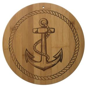 Click here to buy Totally Bamboo Anchor Shape 1-Piece Bamboo Cutting Board by Totally Bamboo.