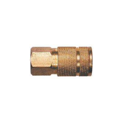 1/4 in. Automotive 6-Ball Brass Coupler with 1/4 in. Female NPT