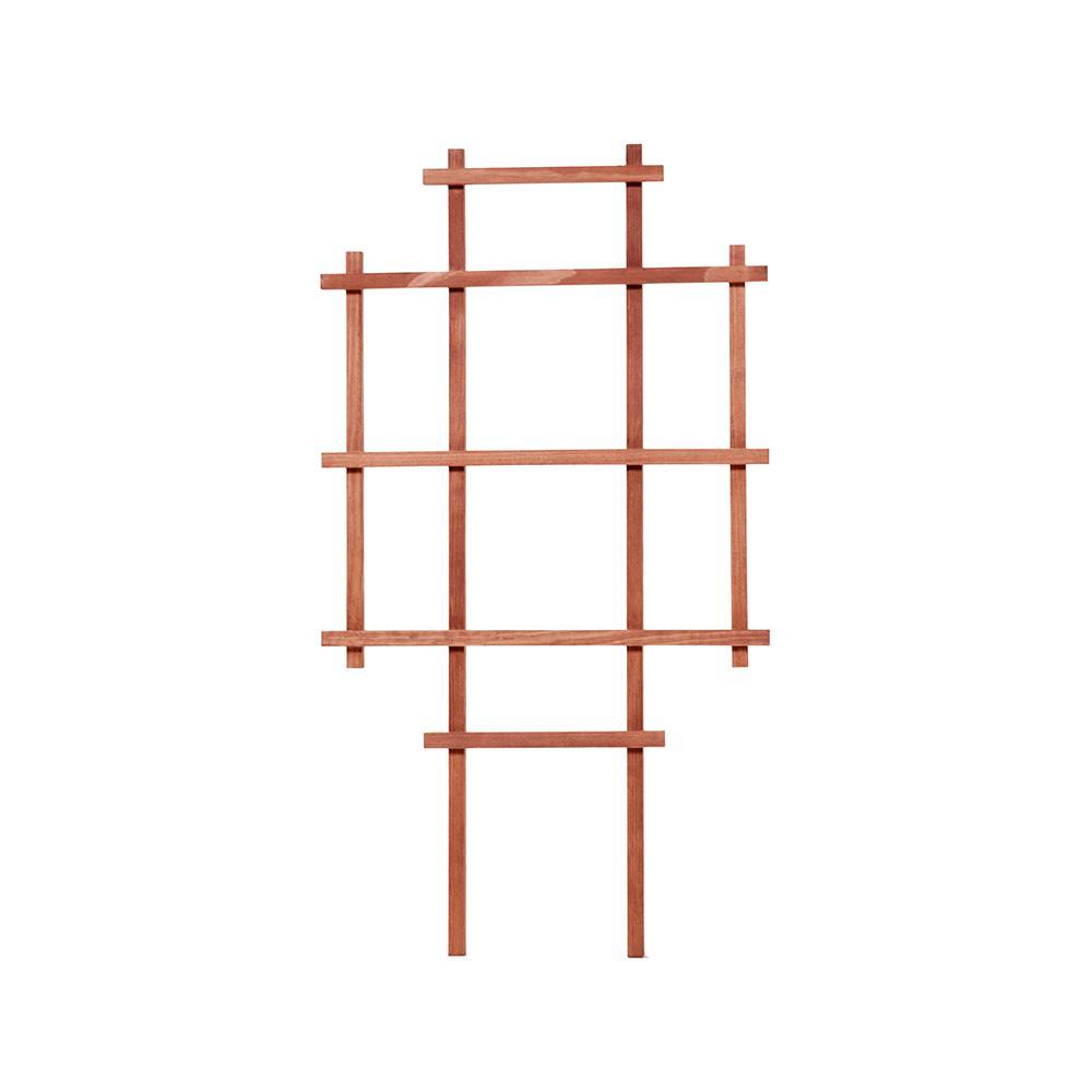 36 in. Wood Ladder Trellis