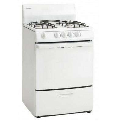 24 in. 3 cu. ft. Single Oven Electric Range Easy Clean in White
