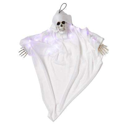 36 in. Light Up Hanging White Ghoul