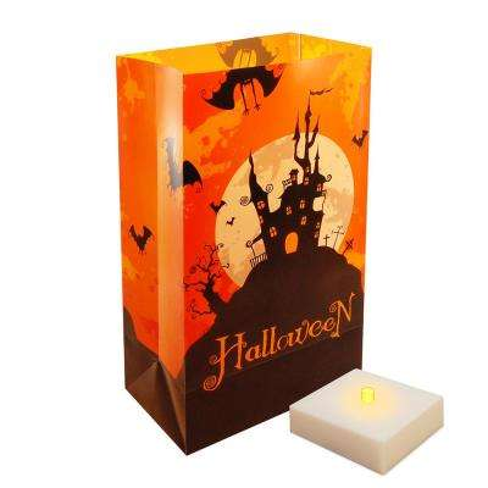 LumaLite Luminaria Kit Halloween House (6-Count)