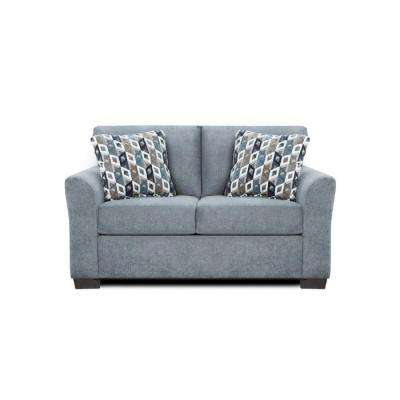Weaver Anna Blue and Grey Loveseat