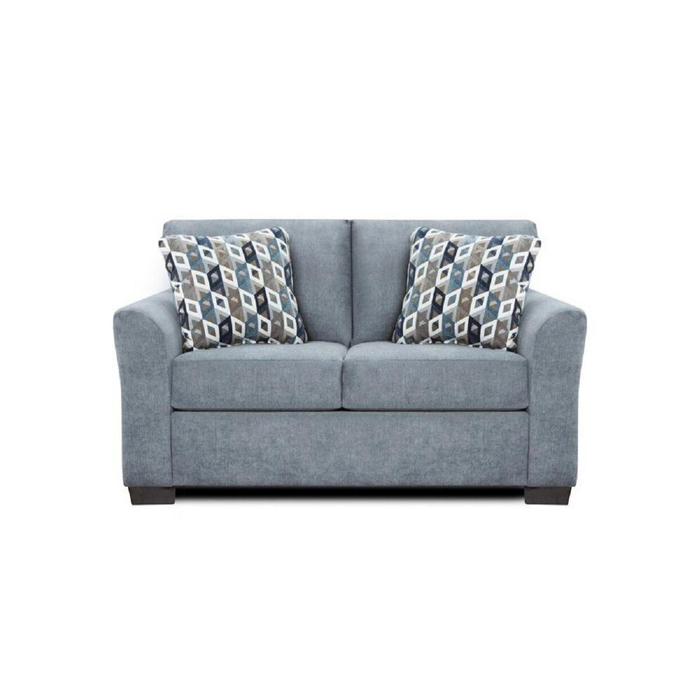 Chelsea home furniture weaver anna blue and grey loveseat 193902 l abgr the home depot