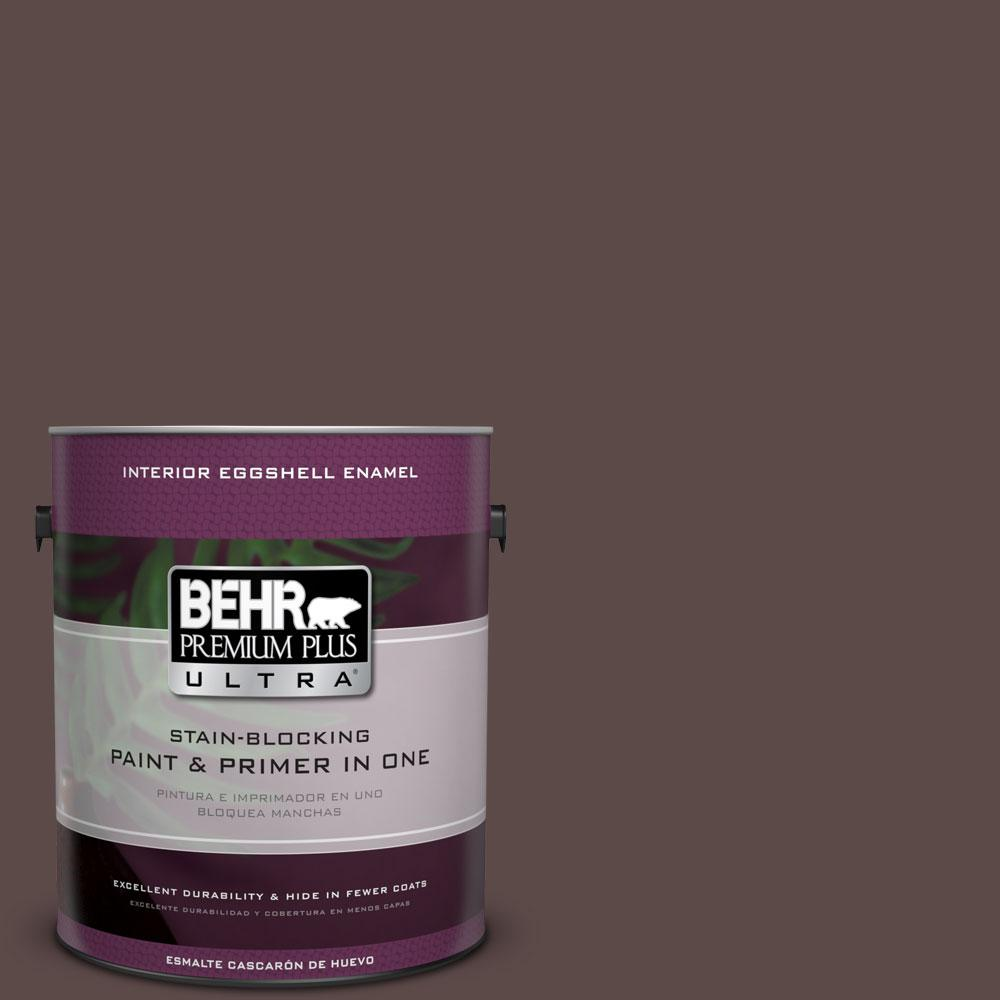 1 gal. #740B-7 Smooth Coffee Eggshell Enamel Interior Paint and Primer