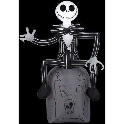 2 ft. W x 4 ft. H Inflatable Disney Jack Skellington on Tombstone