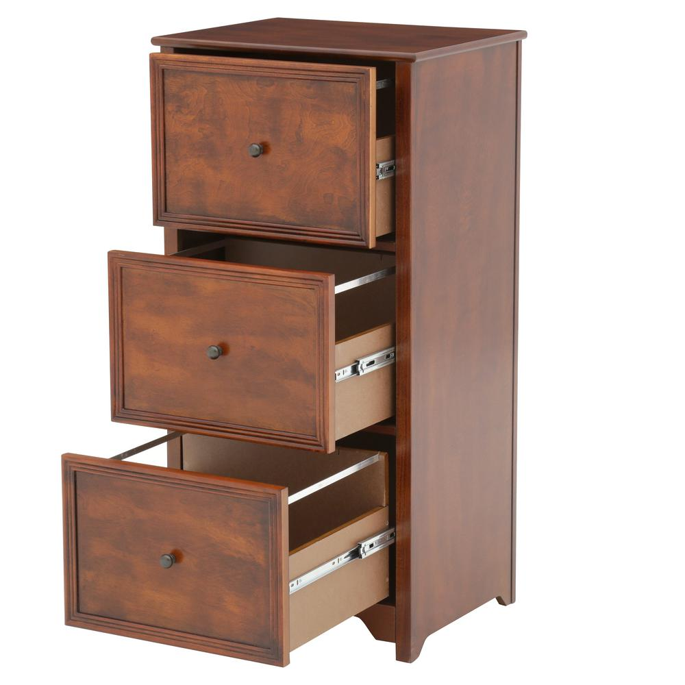 41 In. File Cabinet Home Office 3-Drawer Wood Wooden ...