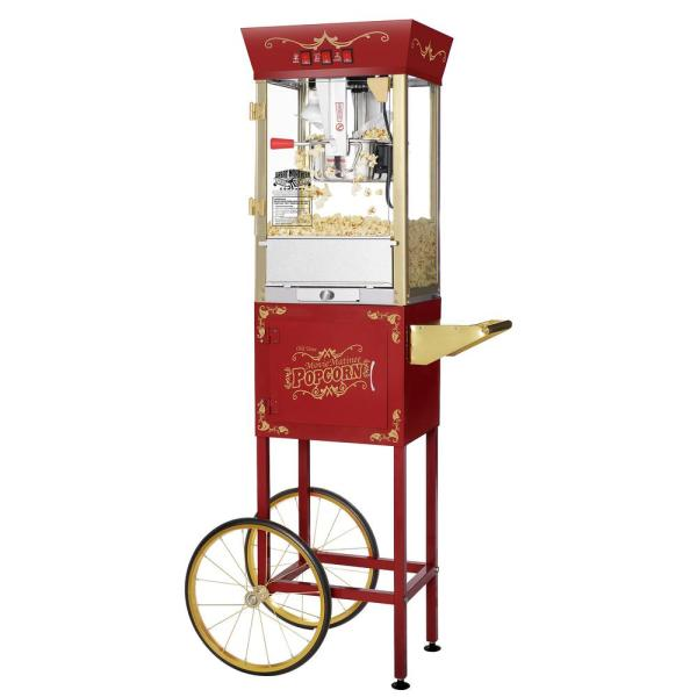 Great Northern Matinee Movie 8 oz. Antique Red Popcorn Machine with Cart