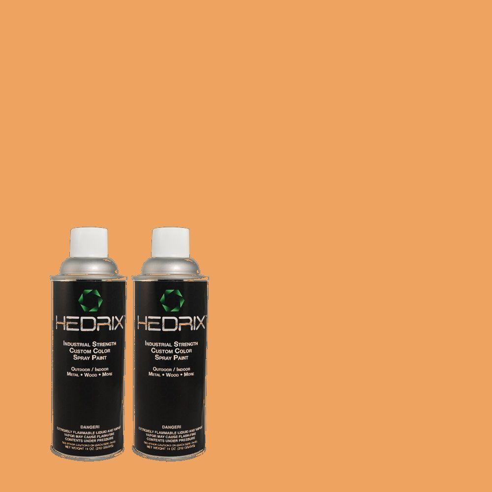 Hedrix 11 oz. Match of 260D-4 Copper River Semi-Gloss Custom Spray Paint (2-Pack)