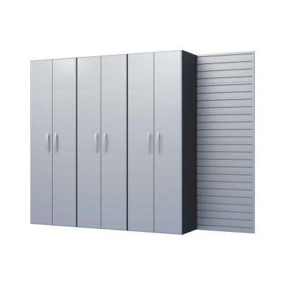 Modular Wall Mounted Garage Cabinet Storage Set in Silver (3-Piece)
