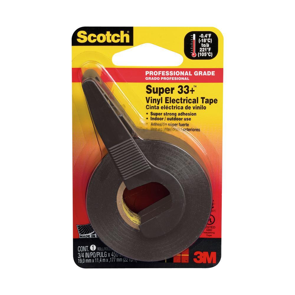 3M Scotch Super 33+ 0 75 in x 12 5 yd, Vinyl Electrical Tape (Case of 24)