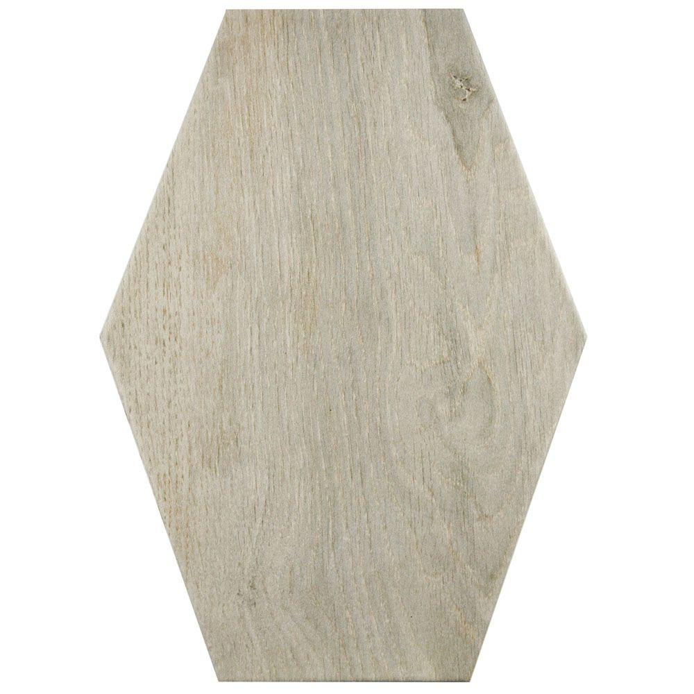 Merola Tile Timber Hex Irr Tilo 8-3/8 in. x 11-3/4 in. Porcelain ...
