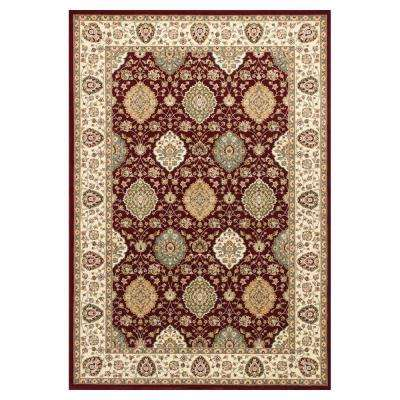 Reynolds Classic Ruby/Ivory 5 ft. 3 in. x 7 ft. 7 in. Area Rug