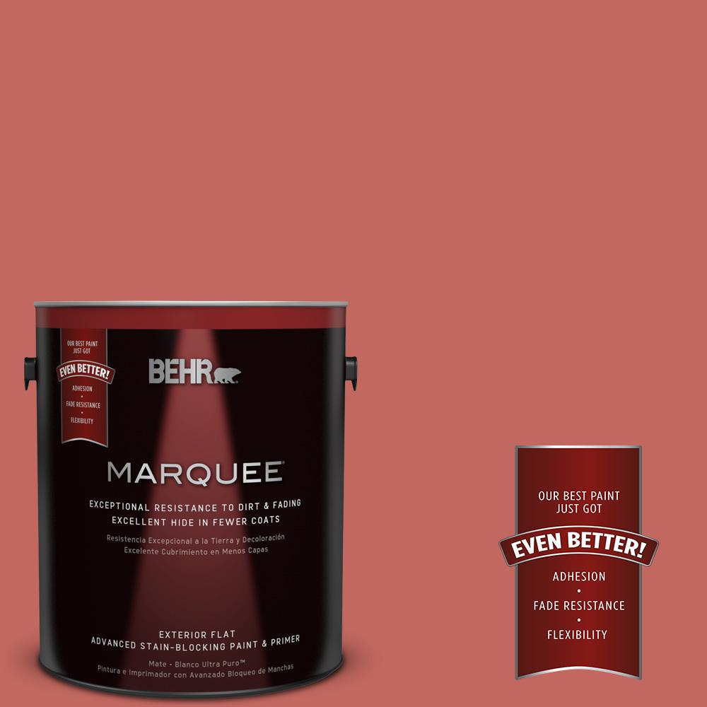 Home Decorators Collection 1-gal. #HDC-CL-10 Tapestry Red Flat Exterior Paint
