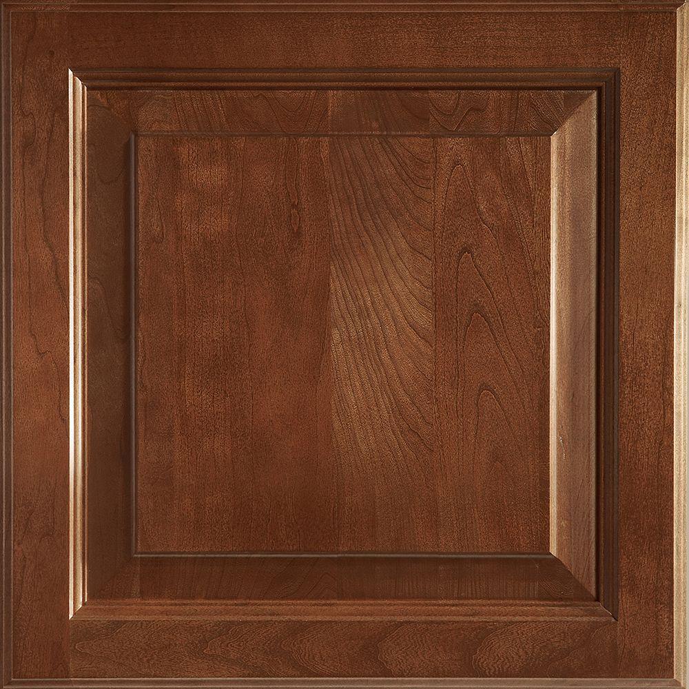 American Woodmark 14-9/16x14-1/2 in. Cabinet Door Sample in Alexandria Cherry Spice