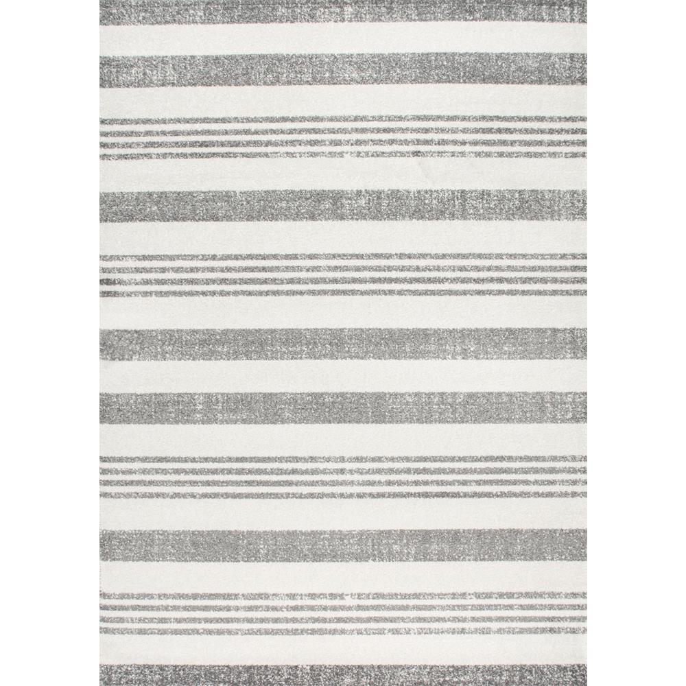 Striped Kelsi Grey 4 ft. x 6 ft. Area Rug