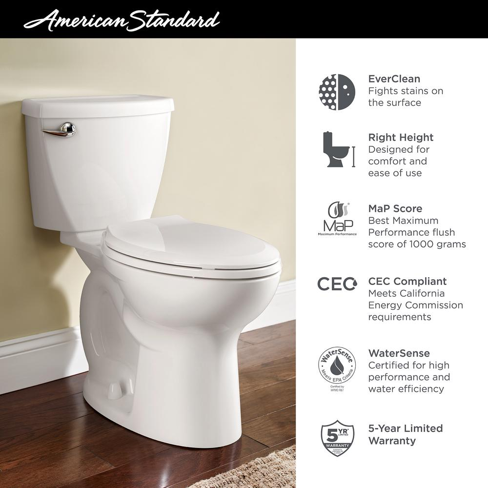 Sensational American Standard Cadet 3 Flowise Tall Height 2 Piece 1 28 Gpf Single Flush High Efficiency Elongated Toilet With Slow Close Seat In White Dailytribune Chair Design For Home Dailytribuneorg