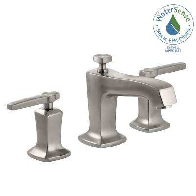 Margaux 8 in. Widespread 2-Handle Low-Arc Water-Saving Bathroom Faucet in Vibrant Brushed Nickel