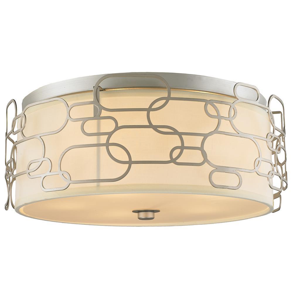 Montauk 5-Light Matte Nickel Flushmount