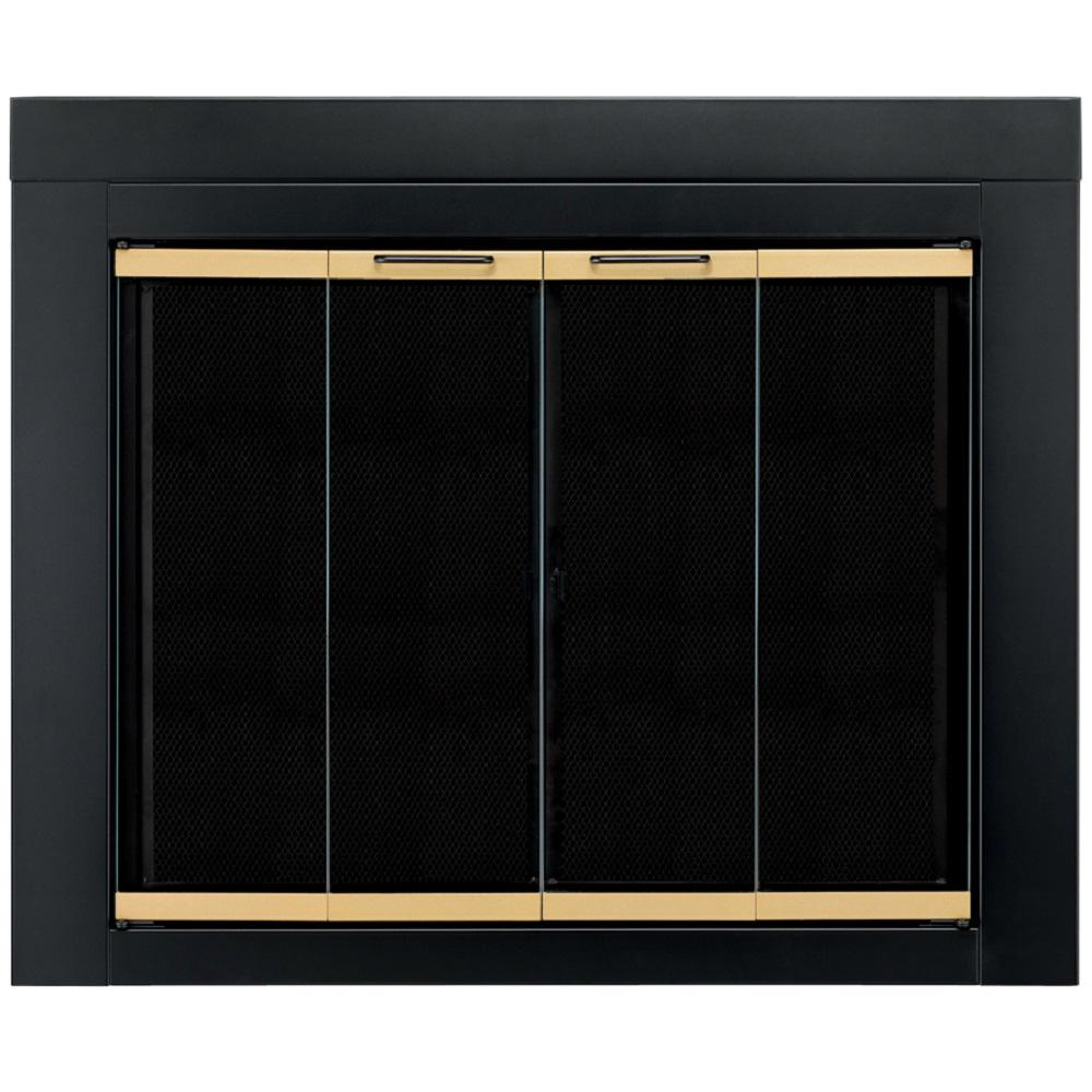 Pleasant Hearth Arrington Small Glass Fireplace Doors Ar 1020 The