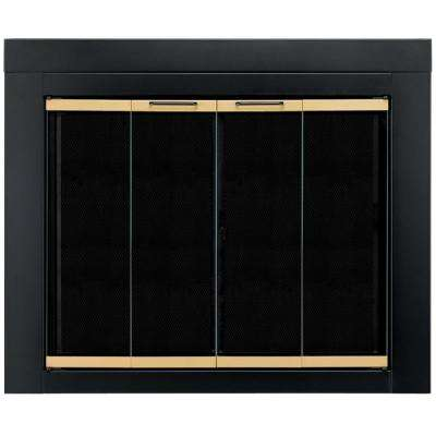 Black Fireplace Doors Fireplaces The Home Depot