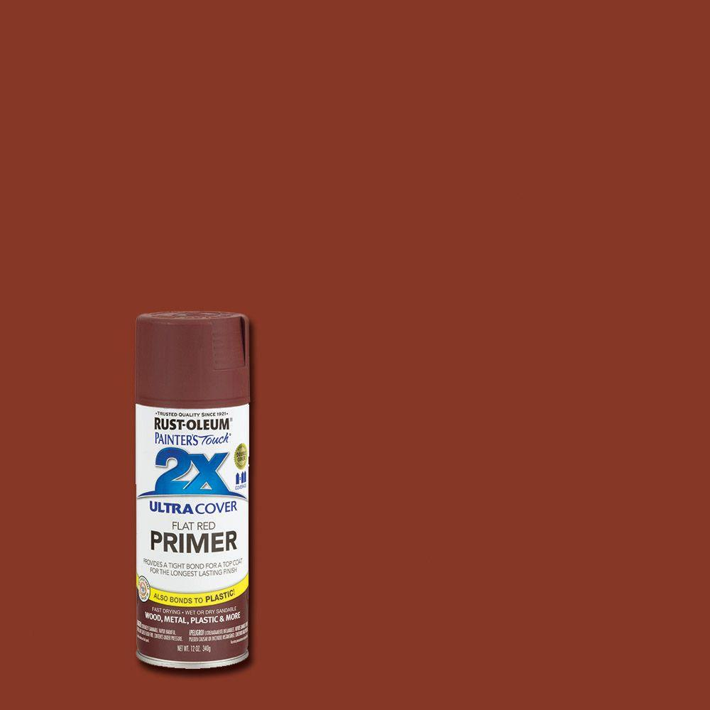 Rust-Oleum Painter's Touch 2X 12 oz. Flat Red Primer General Purpose Spray Paint