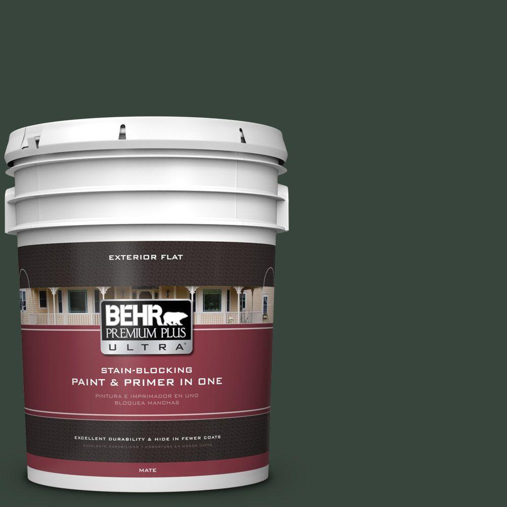 BEHR Premium Plus Ultra 5-gal. #PPF-54 Trellised Ivy Flat Exterior Paint