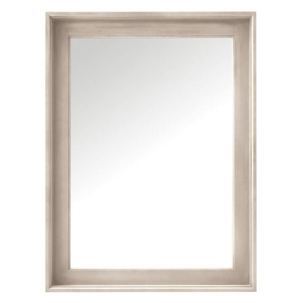 Chennai 24 in. W x 32 in. H Framed Bath Mirror in White Wash