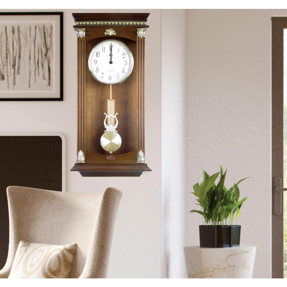 11 in. W x 3.5 in. D x 23.8 in. H Traditional Wood Wall M...